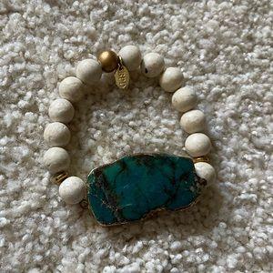 J crew Green Stone Bracelet
